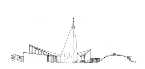 Sketches Community by Gallery Of Community Church Knarvik Reiulf Ramstad