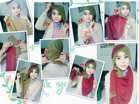 tutorial hijab segi 4 pesta cara berhijab modern segi empat yang sangat praktis