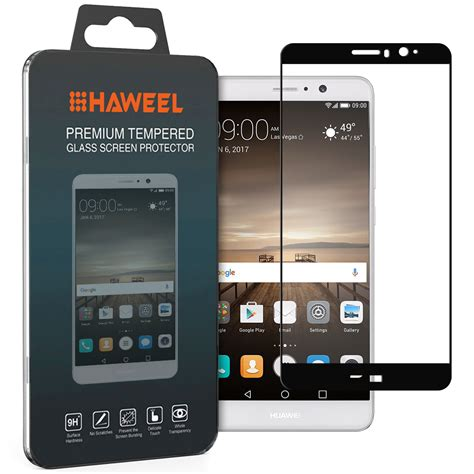 Tempered Glass Km Huawei Mate9 tempered glass screen protector huawei mate 9 black