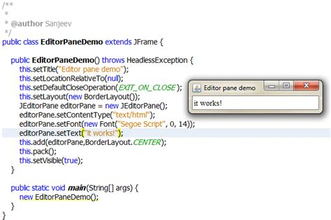 java swing default font setting default font in jeditorpane