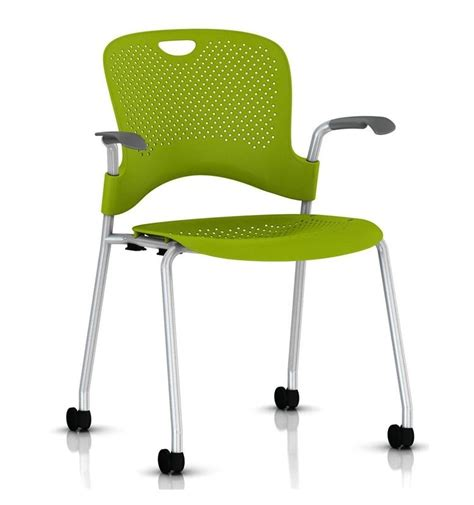 Herman Miller Caper Chair by Herman Miller Caper Stacker Chair With Arms Silver