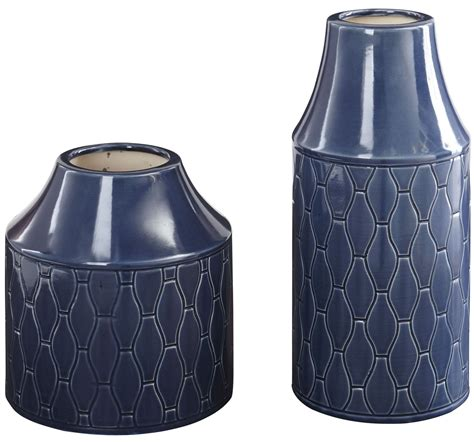 Navy Vases by Caimbrie Navy Vase Set Of 2 From A2000160