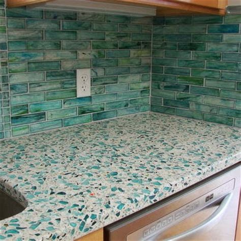 Recycled Kitchen Countertops by Vetrazzo Recycled Glass Countertops Saver