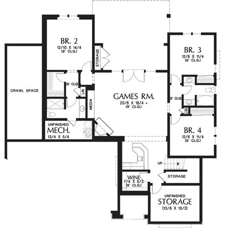 Craftsman House Plans With Basement by Craftsman House Plan With Walkout Basement
