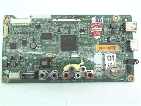 Sparepart Tv Led Lg lg tv model 50ln5400 ua board part number ebt62359752
