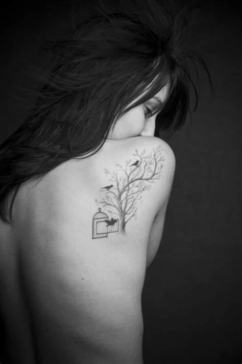 tattoo inspiration bird tree tattoos for women shoulder amazing women tree tattoo