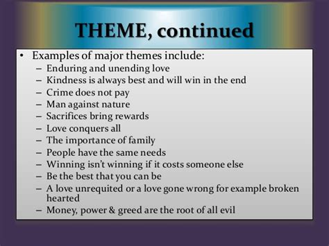 good themes of a story academic vocabulary for narrative writing