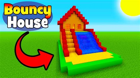 bouncy house minecraft tutorial how to make a bouncy house with a water slide bouncy house in