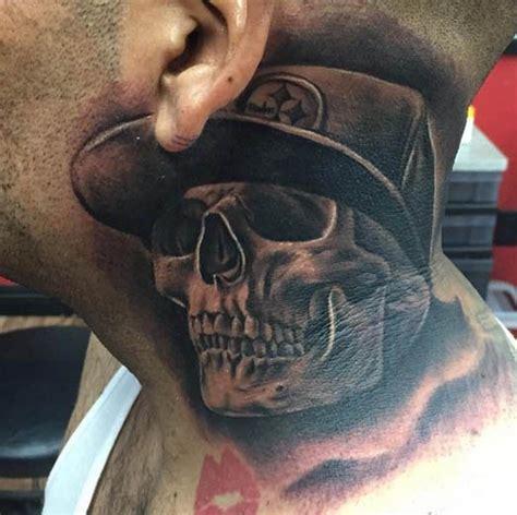 tattoo neck skull tattoo by brian gonzales tattoocrazy123 skull tattoos