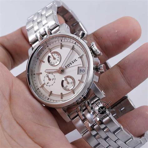 Jam Tangan Fossil 2 Rantai Silver harga sarap jam tangan fossil boyfriend rantai es2198 silver
