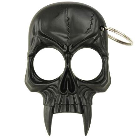 zombie skull 2 finger knuckle skull 2 finger knuckle keychain black