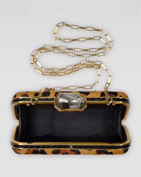 Rafe Shearling Bag by Rafe Demi Leopard Print Calf Fur Box Clutch