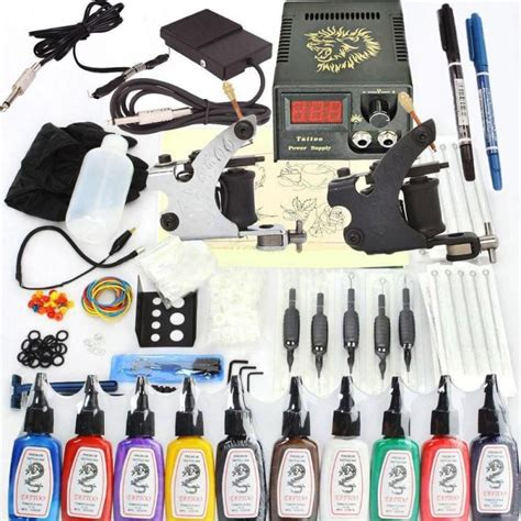 tattoo equipment for sale philippines new 400 pcs tattoo machines kit complete set 2 gun 10 ink