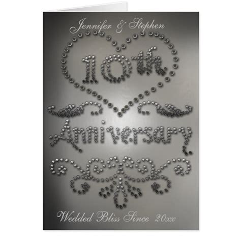 printable 10th wedding anniversary cards 10th wedding anniversary gifts t shirts art posters