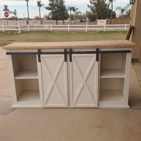 sliding barn door cabinet ana white grandy sliding door console diy projects