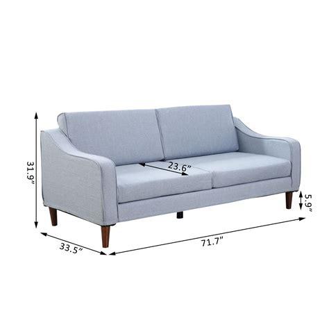home goods sofa homcom three seat sofa light blue sofas furniture home goods