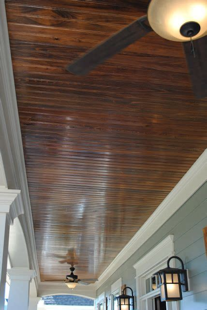 wood planked porch ceiling home decor pinterest