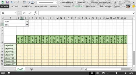 Creer Un Calendrier Comment Cr 233 Er Un Calendrier Automatique Dans Excel