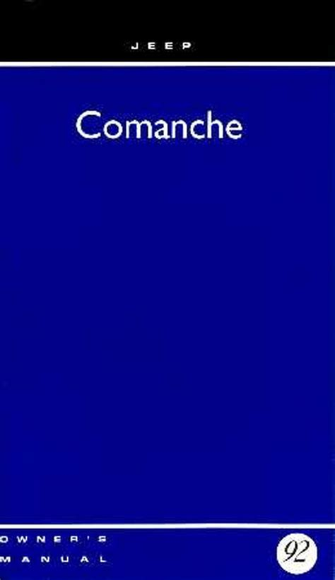 service and repair manuals 1992 jeep comanche electronic toll collection bishko oem repair maintenance owner s manual jeep comanche 1992 ebay
