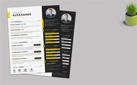 Resume Business Card Template by Cv Resume Business Card Template By One Graphics