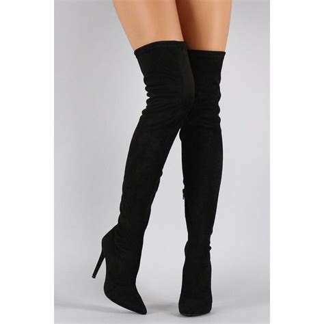 the knee suede high heel boots the knee suede boots high heel oasis fashion