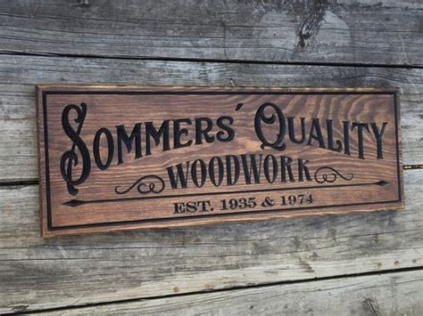 buy hand crafted custom carved wood sign woodworking