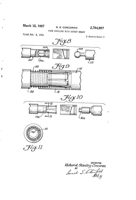 design patent meaning patent us2784987 pipe coupling with detent means