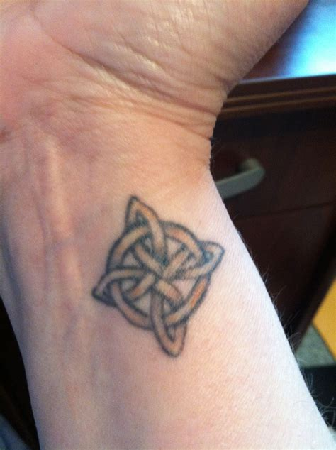 eternal love tattoos wrist 4 pointed celtic knot eternal