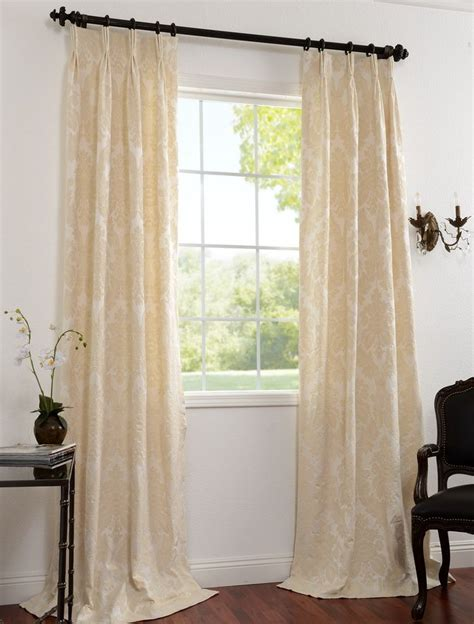 cream colored drapes 2 1 pair mayfair cream cotton damask curtains family