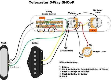 wiring diagram for telecaster guitar 44 wiring