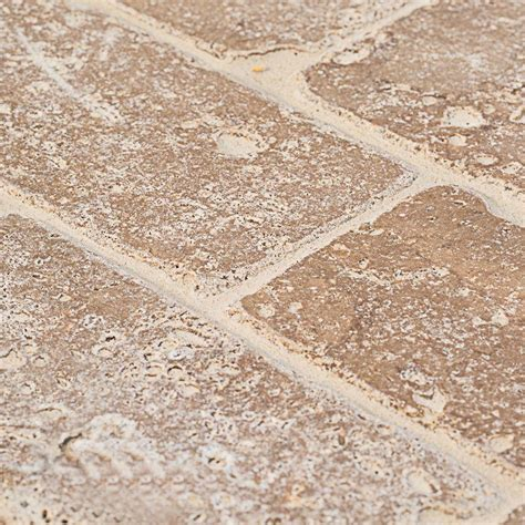 travertine wall jeffrey court travertine noce 6 in x 3 in travertine
