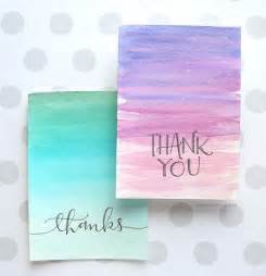 easy diy thank you cards ombr 233 watercolor kwernerdesign
