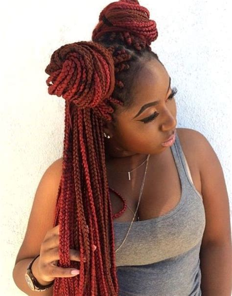 pictures of long single braids in a bun with side swoop top 20 all the rage looks with long box braids box