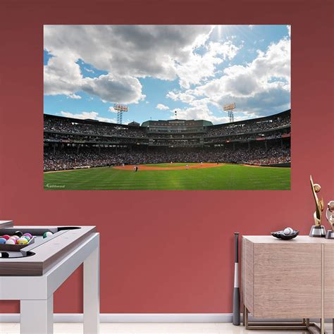 fenway park wall mural fenway park outfield mural wall decal shop fathead 174 for boston sox decor