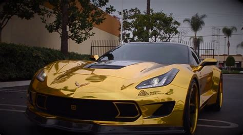 corvette stingray gold image gallery golden corvette 2016