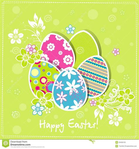 Easter Greeting Card Template by Easter Greeting Card Template Vector
