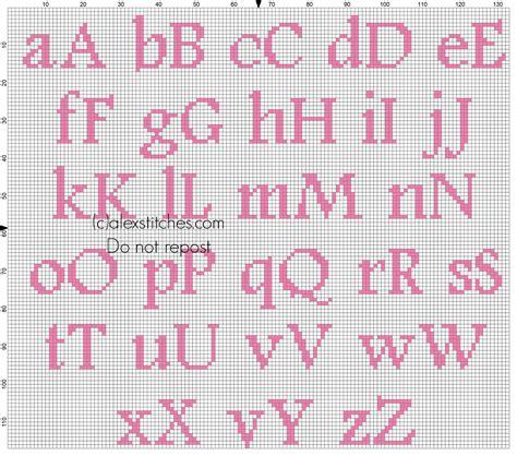 lettere punto croce da stare cross stitch alphabet baby pink footlight mt light size 20
