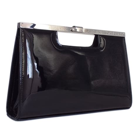 black patent clutch bag peter kaiser uk wye black patent leather clutch bag