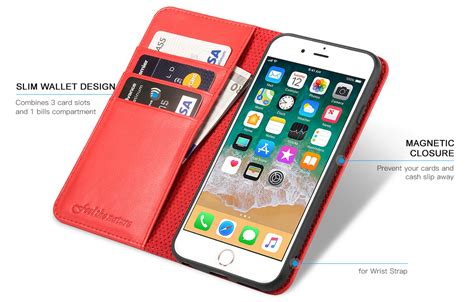 shieldon iphone 6s wallet phone with genuine leather with tpu