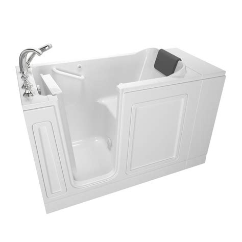 american standard walk in bathtub shop american standard 48 in white acrylic walk in bathtub