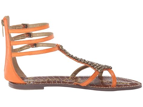 sam edelman studded sandals lyst sam edelman studded gladiator sandal in brown