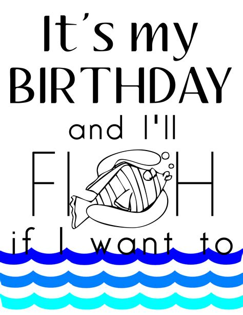 printable birthday cards fishing free its my birthday printables our thrifty ideas