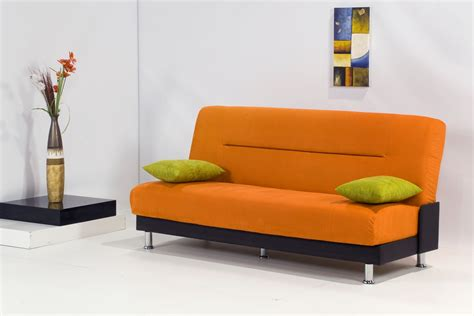 orange sofa bed by kilim