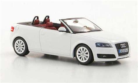 Audi A3 Weis by Audi A3 Cabriolet Weiss 2008 Minichs Modellauto 1 43