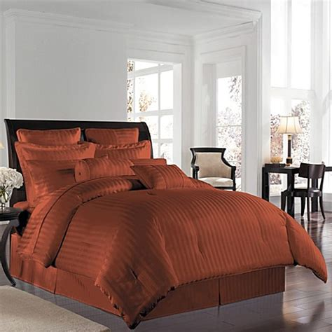 rust bedding wamsutta 174 500 damask comforter set in rust bed bath beyond