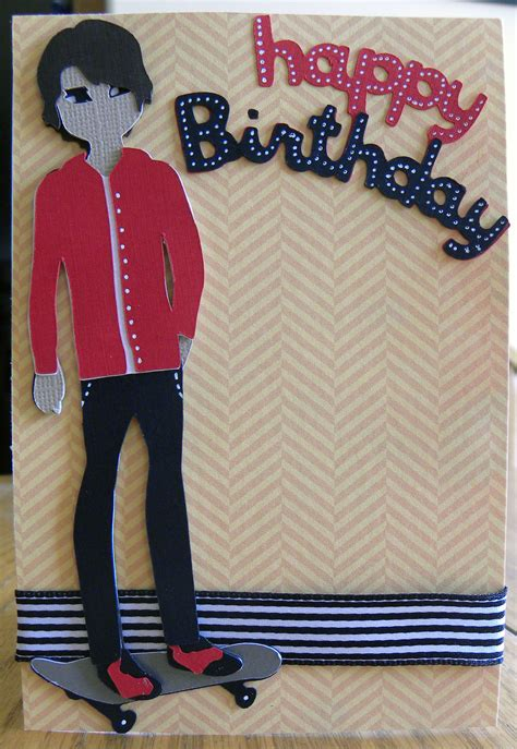 how to make a birthday card for boys cricut paper dolls projects craftdirect