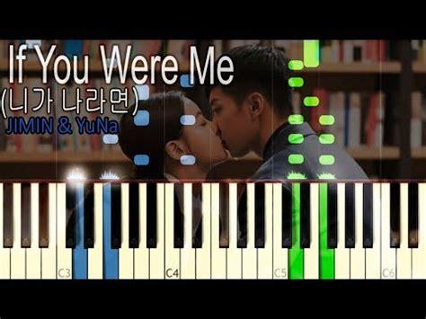 Hwayugi Ost if you were me piano jimin yuna a korean odyssey