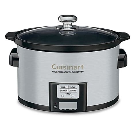 slow cooker bed bath and beyond cuisinart 174 3 5 quart programmable slow cooker bed bath