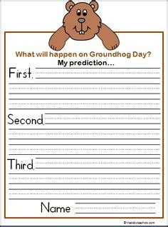 groundhog day journal prompts free word family at worksheet look at the pictures and