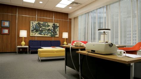 mad men office decor popsugar home this is the reception room for quot sterling cooper